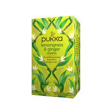 Buy Lemongrass & <b>Ginger Organic Herbal Tea</b> - Pukka Herbs | Pukka