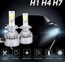 2Pcs <b>C6</b> H1/H4/H7 <b>Car LED Headlight</b> Bulb 6000K Super Bright ...