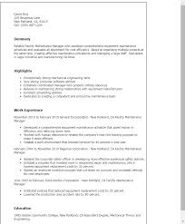 professional facility maintenance manager templates to showcase    resume templates  facility maintenance manager