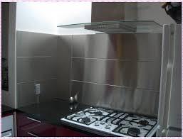 large stainless steel backsplash minimalist