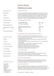 student resume targeted at a hairdresser vacancy resume template for students