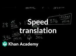 Speed translation (video) | Intro to rates | Khan Academy