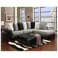 furniture simple three color combination black leather sofa perfect