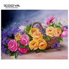 <b>ZOOYA Diamond Embroidery 5D</b> Diamond Painting Peony ...