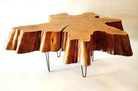 awesome tree stump outdoor awesome tree trunk coffee table