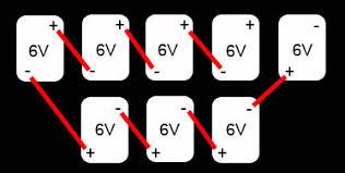 golf cart battery bank wiring in series golfcarcatalog com blog 48 volt golf cart battery bank eight 6 volts