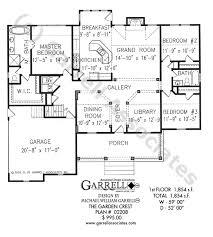 Garden Crest House Plan   House Plans by Garrell Associates  Inc garden crest house plan   st floor plan