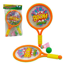 1toy набор для <b>игры</b> с <b>мячом</b>, ракетки <b>пластмассовые</b>, волан ...
