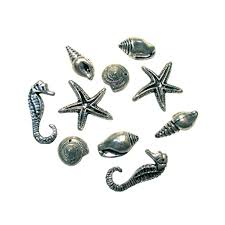 <b>Декоративные подвески</b> Морские серебряные. Цена: 15.00 руб ...