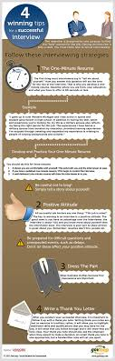 4 winning tips for interview success infographic interview tips