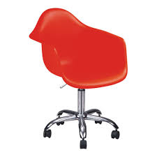 modern red plastic office armchairs chair acrylic office chair