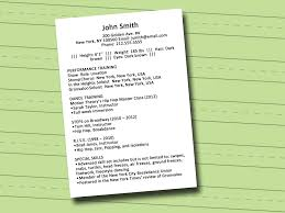 how to write a dance resume sample resume wikihow