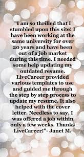 17 best images about livecareer reviews build a livecareer provided various templates to use and guide me through the step by step process