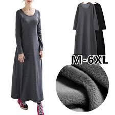 2019 Thickening <b>Women</b> Winter <b>dress</b>,long Sleeve <b>Autumn</b> maxi ...