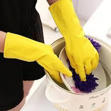 Kitchen <b>Silicone Cleaning</b> Gloves <b>Household</b> Scrubber – Onatural