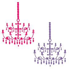 chandeliers set of 4 background pink chandelier