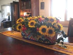 flower arrangements dining room table: cute artificial sunflower centerpiece for dining table