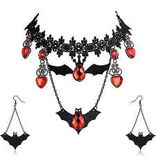 Amupper <b>Halloween</b> Bat <b>Necklace</b> Earring S- Buy Online in Brunei ...