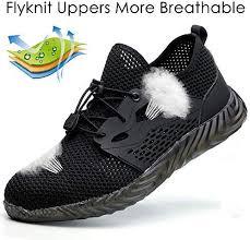 BAOLESEM Steel Toe Work Shoes Women Men <b>Summer Safety</b> ...