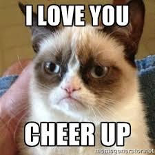 I love you Cheer up - Grumpy Cat | Meme Generator via Relatably.com