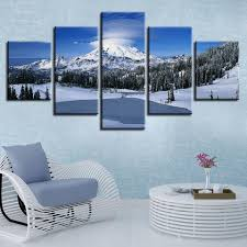 <b>Canvas HD</b> Prints Pictures Wall Art Beautiful Winter Snow Mountain ...