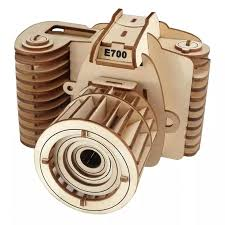 DIY Camera Model Jigsaw Wooden Camera Model <b>Puzzle Toy</b> ...