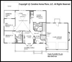 Small Craftsman Style House Plan SG  Sq Ft   Affordable Small    SG  Main Floor Plan