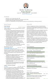 resume template for project manager template it manager resume example