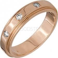 Золотое обручальное <b>кольцо</b> с бриллиантом - купить в Санкт ...