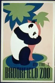 placa ANIMALES Bookfield Zoo Panda anuncio Vintage Retro Estilo ...
