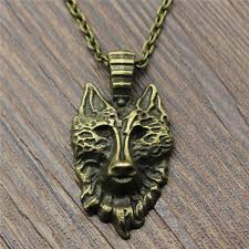 Wholesale <b>32x17mm Wolf</b> Head Necklace Jewelry Gift For Women ...