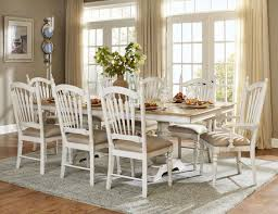 Distressed Dining Room Chairs Hollyhock Distressed White Dining Room Set From Homelegance 5123