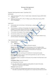 sample business agreement template sample business agreement