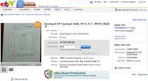 HP Touchpad Drawing eBay Auction | Know Your Meme via Relatably.com