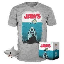 <b>JAWS</b> Great White <b>Shark</b> POP! & <b>Tee</b> - Gray (Target Exclusive)