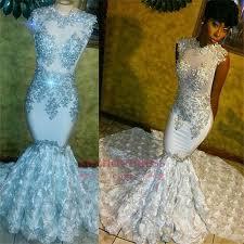Beaded Lace Appliques <b>2019</b> Prom Dresses | <b>Mermaid Flowers</b> ...