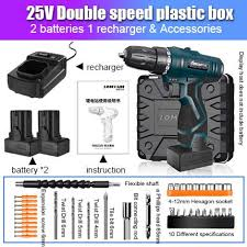 LOMVUM <b>Cordless Drill 12V</b>/16.8V/<b>25V</b> Screwdriver Rechargeable ...
