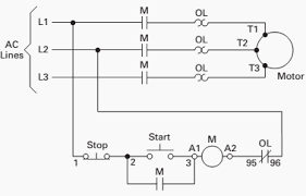 basic wiring for motor control   technical data   eeptypical line or schematic diagram