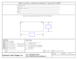 brake fabrication national metal s click for rectangular downspout quote order form
