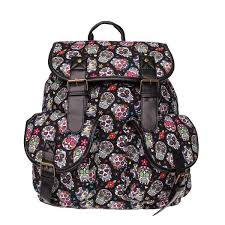 <b>Vintage Floral Skull</b> Oxford Backpack | <b>Vintage</b> backpack woman ...