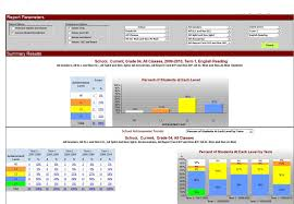 data warehouse report training elementary report card summary main page