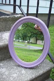 mirror wall decor circle panel: purple wall mirror vintage burwood resin oval mirror hand painted lavender shabby purple and gold wall decor bedroom bathroom mirror