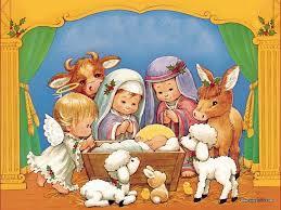 Image result for Christmas manger scene