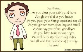 Farewell Poems for Boss: Goodbye Poems – WishesMessages.com via Relatably.com