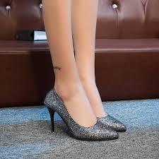 new <b>women's</b> high heels European and American sequins <b>pointed</b> ...