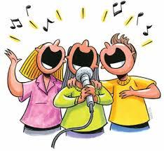 Resultado de imagen de dibujos de personas cantando