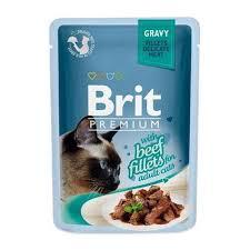 <b>Brit Premium</b> GRAVY Beef Fillets <b>Пауч</b> кусочки из филе говядины в ...