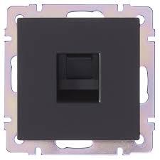 <b>Розетка</b> компьютерная <b>Werkel Ethernet RJ</b>-<b>45</b> цвет черный в Уфе ...