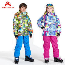 2019 2018 <b>WILD SNOW Boys</b>/<b>Girls</b> Ski Suit Waterproof Windproof ...