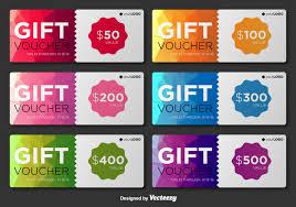 gift card template vector art s modern gift voucher vector templates